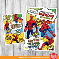 Spiderman Invitation Spiderman Birthday by MrPartyInvites on Etsy