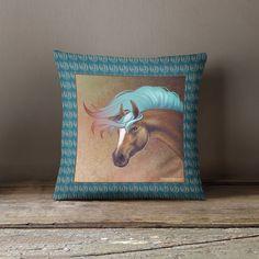 Salt Creek Horse Throw Pillow