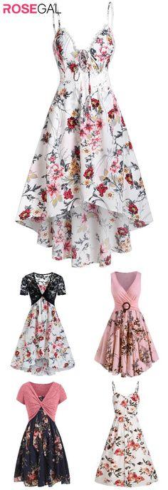 Rosegal women fall floral dresses cute casual dress for woman fall outfits ideas #Rosegal #dress #floral #fall Pretty Outfits, Pretty Dresses, Fall Outfits, Fall Floral Dress, Floral Dresses, Cute Casual Dresses, Casual Outfits, Sundresses Women, Cheap Dresses Online