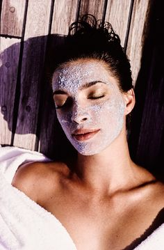 What's the best skin-saving face mask to try now? Here, eight fashion and beauty insiders share their favorites. Photographed by Arthur Elgort, Vogue, December 1989.