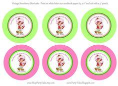 Strawberry Shortcake personalized birthday party by ShopPartyTales, $5.00