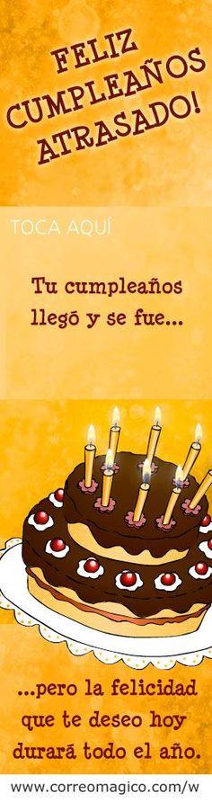 tarjeta de cumpleaa a os para descargar y enviar por whatsapp en correomagico com happy birthday greetingshappy birthday