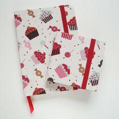 Caderno de Anotações + Porta Post-it :: Cupcake