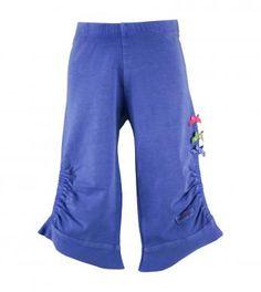 essentials bow trimmed capri leggings in sea