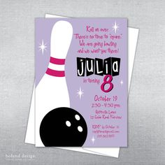 Bowling invitations templates free free printable bowling birthday bowling birthday invitation girl bowling party invitation bowling invitation for girl on etsy stopboris Gallery