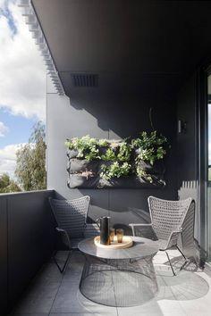 Small Balcony Design, Small Balcony Garden, Modern Balcony, Small Balcony Decor, Outdoor Balcony, Small Patio, Balcony Ideas, Balcony Decoration, Garden Spaces