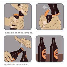 Você sabe abrir cerveja assim?   #cerveja #abridor #abridordegarrafa #boteco #cervejagelada #bebidaliberada