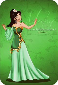 Extra Color - Glamorous Fashion Mulan by ~selinmarsou on deviantART