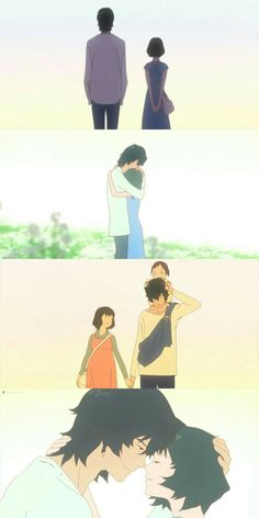Wolf Children | The few moments Hana and he got before he had to leave her alone, with his kids...