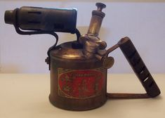 Antique Vintage Solid Brass Governor Paraffin Blowtorch Industrial Made England
