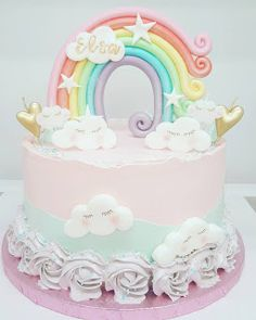Purppurahelmi: Sateenkaarikakku Birthday Cake, Desserts, Food, Tailgate Desserts, Deserts, Birthday Cakes, Essen, Postres, Meals