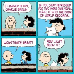 Tuesday with Charlie Brown and Lucy.