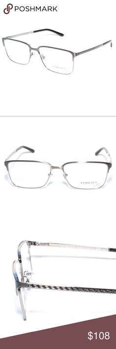 234074a54e Versace Eyeglasses 1232 1262 56 16 Gunmetal Brand new 100% authentic Versace  Eyeglasses 1232