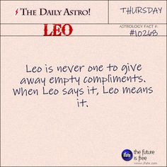 Leo 10268: Check out The Daily Astro for facts about Leo.
