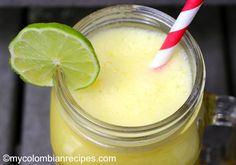 In Colombia, fresh fruit drinks are very popular and always in season, as My Colombian Recipes, Colombian Food, Refreshing Drinks, Summer Drinks, Fresco, Fruit Drinks, Beverages, Smoothies, Pineapple Juice