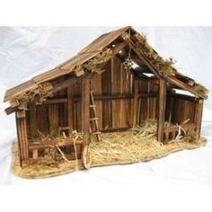 How To Build An Outdoor Nativity Stable With Pictures by Woodtopia Nativity Stable Large Willow Tree Nativity Christmas Crib Ideas, Christmas Manger, Christmas Nativity Scene, Christmas Wood, Christmas Deco, Diy Christmas Gifts, Christmas Projects, Christmas Friends, Outdoor Nativity Scene