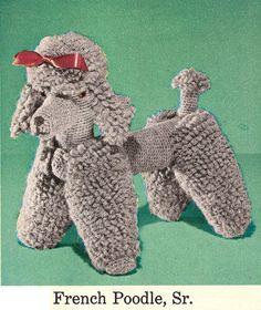 Crochet Dog Patterns from the 50's  a Scottie by wanderlustlounge