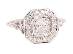 Blazing Bauble - Diamond Halo Ring - The Three Graces