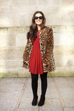 Street Style Vigo #streetstyle #streetstylevigo #streetstylegalicia #modaenlacalle #vigostyle #vigo #leopardo #red