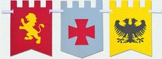 Silhouette Design Store - View Design #81615: medieval flags