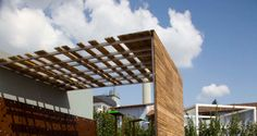 canopy with wood slat detail - Google Search