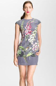 Ted Baker London Foxglove Print Silk Dress available at #Nordstrom