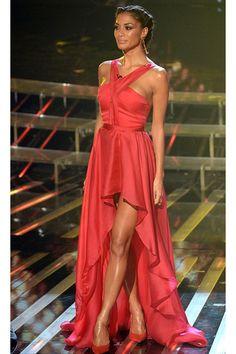 Nicole Scherzinger in Sandra Mansour Dress-X Factor http://www.fustany.com/en/fashion/celebrity-style/nicole-scherzinger-in-sandra-mansour-dress #fashion #dresses #sandramansour #fustany