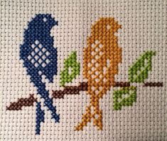This is taken from cross stitch patterns that are done monochromatically, but I chose to do it in color.