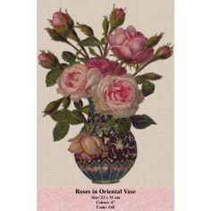 Gobelin Model Roses in Oriental Vase Decoupage Vintage, Vintage Diy, Vintage Ephemera, Vintage Cards, Vintage Postcards, Vintage Images, Decoupage Art, Vintage Pictures, Victorian Flowers