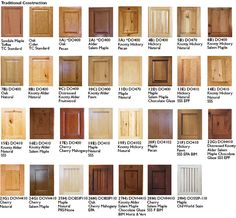 types of wood cabinets