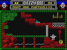 Fantasy World Dizzy - ZX Spectrum Retro Video Games, Retro Games, Old Technology, School Videos, Old Computers, 16 Bit, School Games, Old Games, My Youth