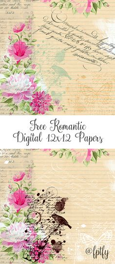 Free Romantic Digital Paper! - Free Pretty Things For You