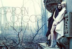 good evil fashion chris nicholls1 Garden of Good & Evil: Meagan + Gaby by Chris Nicholls for FASHION Magazine