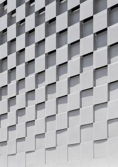 's choice of the day. Three pictures 02 / 03 Gallery of XYZ Formula / WGNB - 8 Facade Design, Wall Design, Exterior Design, Building Skin, Building Facade, Facade Pattern, Mall Facade, Concrete Facade, Parametric Design