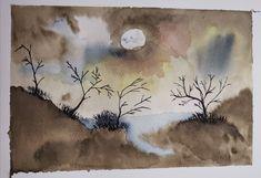 #watercolor #landscape #fog Watercolor Landscape, Watercolors, Fine Art, Painting, Water Colors, Painting Art, Watercolor Paintings, Paintings, Visual Arts