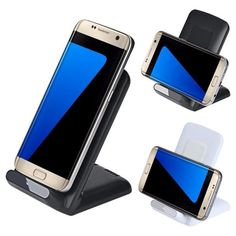 3 Coils Qi Wireless Charger Stand Dock for Samsung Galaxy S7 S7 Edge S6 Edge