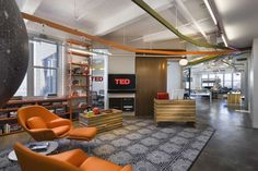TED Conferences office by Tina Manis Associates, New York City office 2