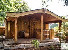 Backyard Retreat traditional garage and shed