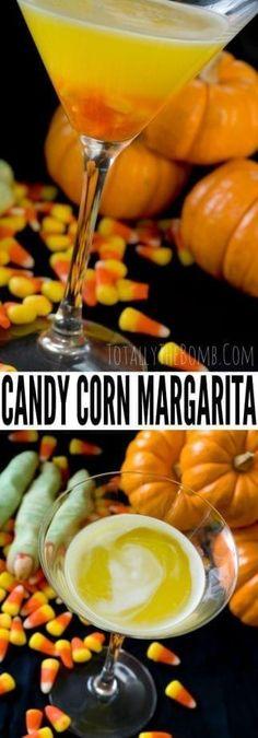 Candy Corn Apple Pucker Margarita ~ Halloween Drink Recipe Halloween Cocktails, Easy Cocktails, Halloween Snacks, Cocktail Recipes, Diy Halloween, Easy Drink Recipes, Yummy Drinks, Smoothie Recipes, Corn Recipes