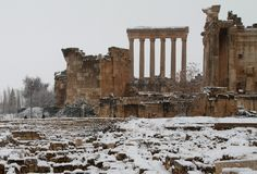 Baalbek's temples are pictured on December 11, 2013 as the Roman ruins of the historic town in eastern Lebanon's Bekaa Valley
