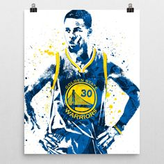 Stephen Curry Golden State Warriors Away Poster