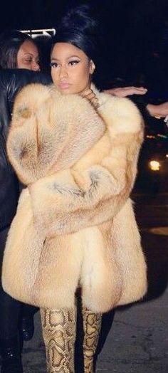 .Fox Fur and Snake Skin Pants, Niki Minaj!