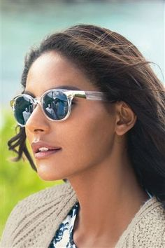 Clear Preppy Style Sunglasses With Metal Detail from Next