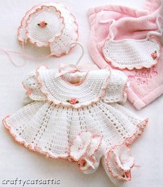 ITS A BABY GIRL THING Crochet Pattern BOOK ~ BABY DRESSES BALLET ONSIE LAYETTE