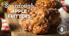 These sweet apple fritters are spiced with cinnamon and studded generously with fresh apples. Serve them with yogurt, kefir, or sour cream, for a real breakfast treat! Apple Fritter Bread, Apple Fritters, Apple Fritter Recipes, Apple Recipes, Holiday Recipes, Starter Recipes, Bread Recipes, Sourdough Recipes, Sourdough Bread