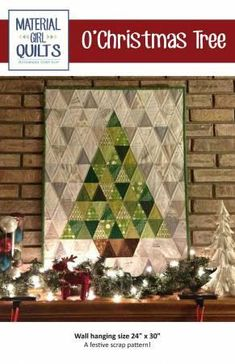O'Christmas Tree is the perfect modern Christmas quilt to use up your favorite scraps! Finished wall-hanging quilt measures 24in x 30in.
