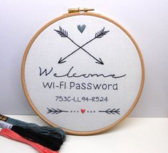 Hey, I found this really awesome Etsy listing at https://www.etsy.com/listing/265518447/welcome-sign-custom-hand-embroidery-art