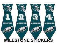 Philadelphia Eagles Unique Monthly Milestone by MilestoneStickers, $5.00