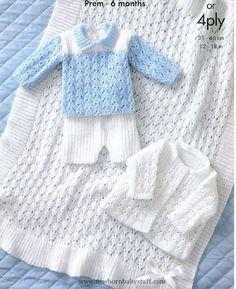 Baby Knitting Patterns Baby Knitting PATTERN - Jacket, Shawl, Sweater and Shorts - ...