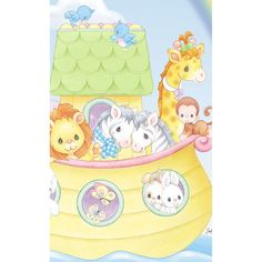 ... Baby Shower Party Decorations. See More. Precious Moments Noahu0027s Ark  Panel Nursery Fabric